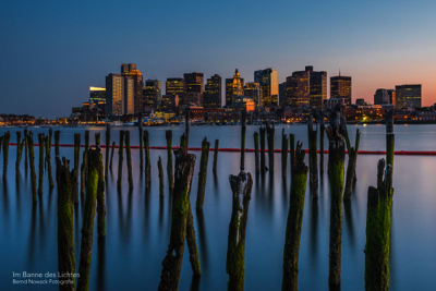 Nightfall over Boston